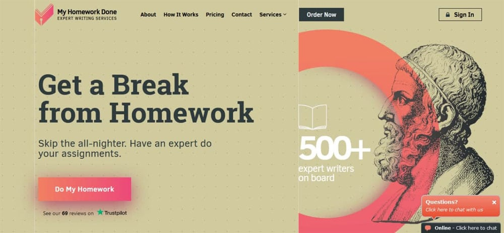 Websites that do your homework: myhomeworkdone.com
