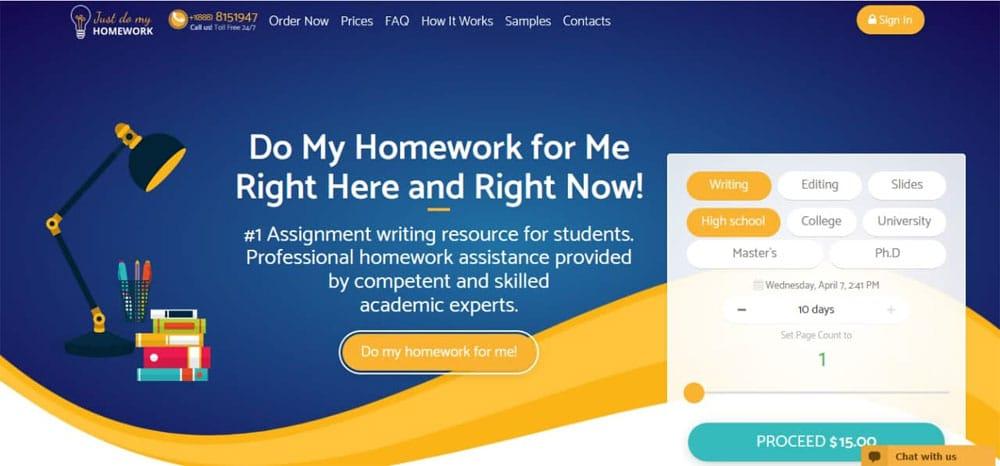 justdomyhomework.com: online homework writing service