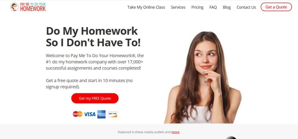 Paymetodoyourhomework.com is a website for doing homework located in the USA