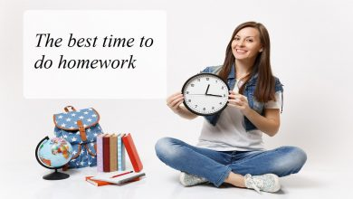 The best time to do homework