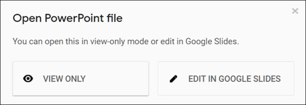 How to open PowerPoint on Google Slide