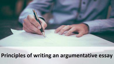 Principles of writing an argumentative essay