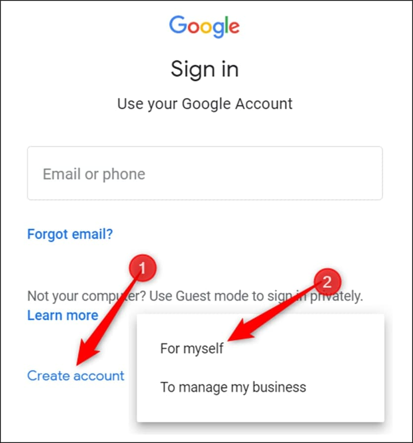 Sign up to use your Google account