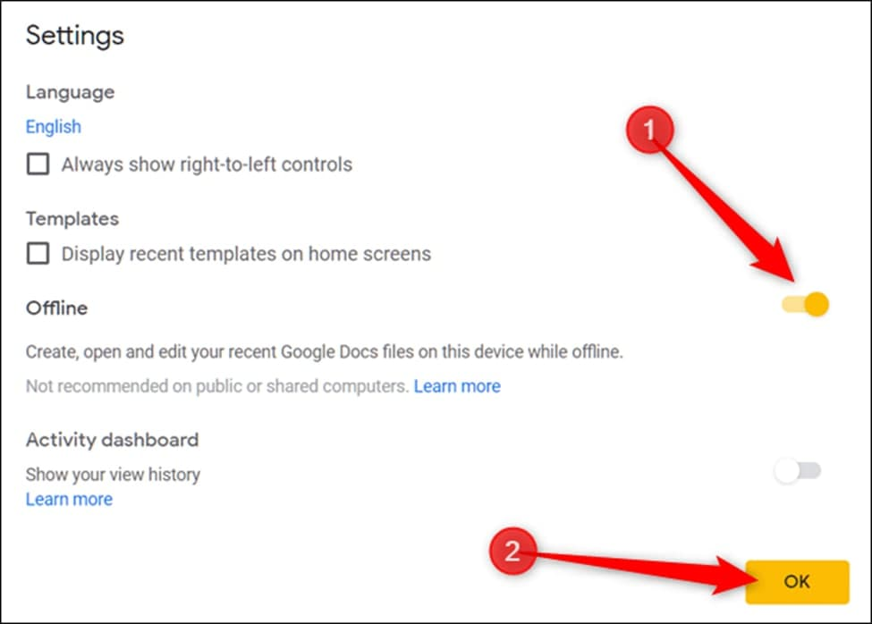 How to use Google Slides without internet access?