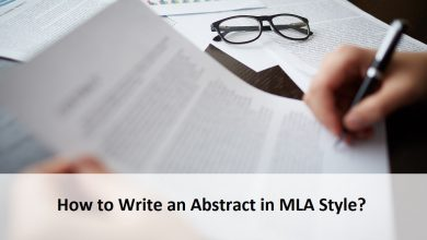 How to Write an Abstract in MLA Style
