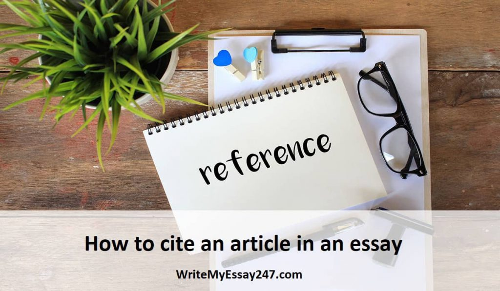 How to cite an article in an essay