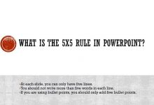 What is the 5 by 5 rule in PowerPoint