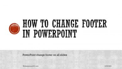How to change footer in PowerPoint