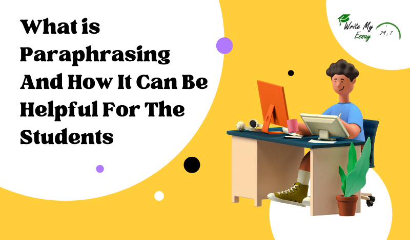 What is paraphrasing, and how can it be helpful for the students?